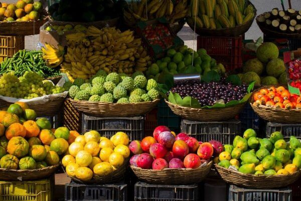 Fruits market colors