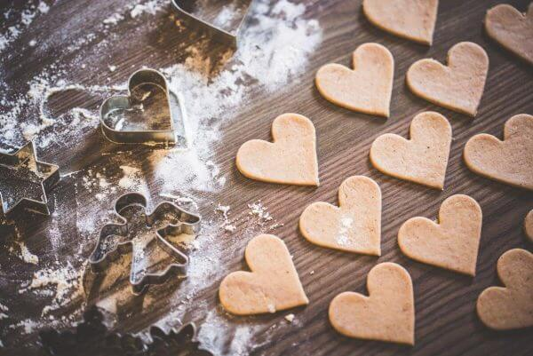 Christmas baking lovely yummy hearts picjumbo com