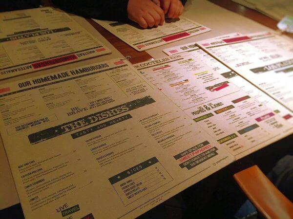 Papachos menu