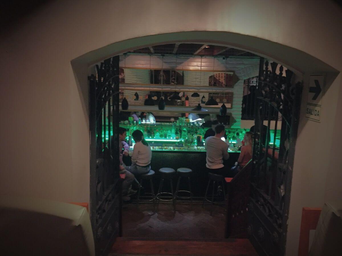 Ayahuasca inside bar