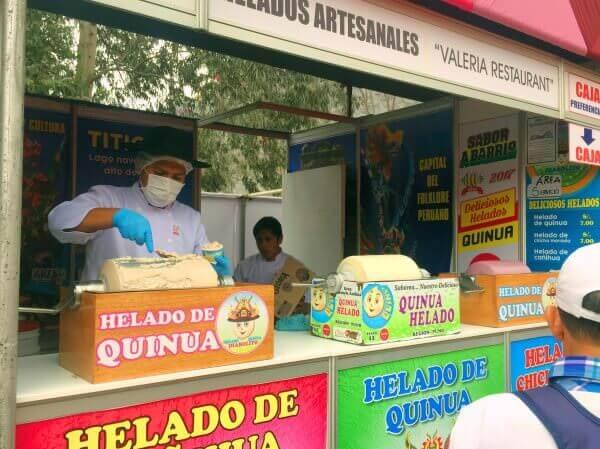 Mistura helado quinua