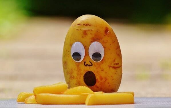 Potatoes french mourning funny