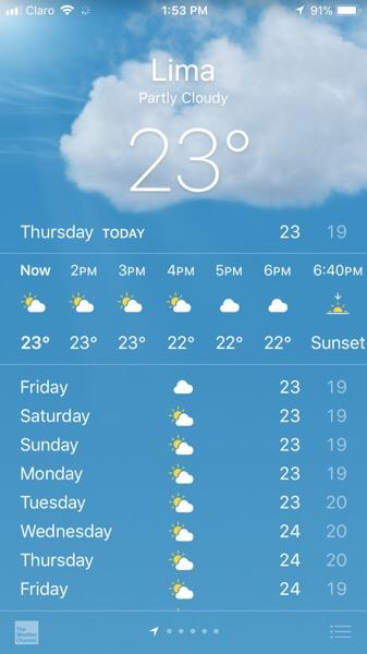 january lima weather