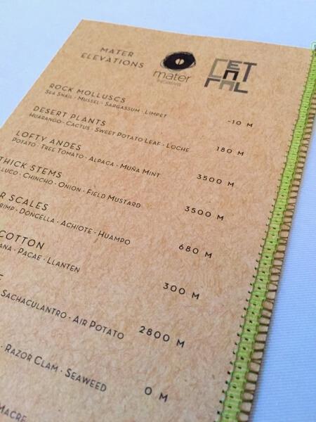 central menu