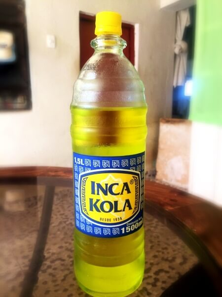 Inca kola bottle