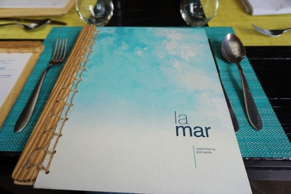 La mar drink menu